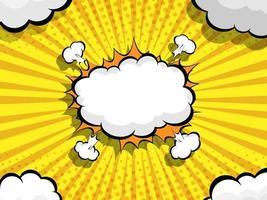 abstract comic book pop art speech bubble vector