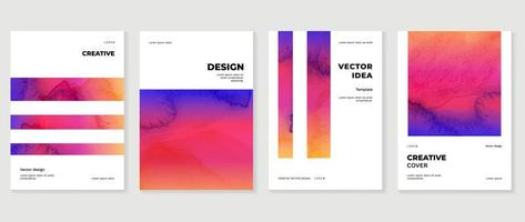 Modern cover vector template with watercolor and Geometric shape. photo