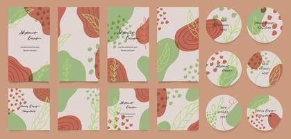 Cover design and Social media post and stories background vector. vector