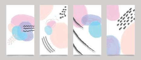 Cover design, Wall art, canvas prints, organic shapes background vector