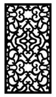 laser cut engraving ornaments for window, door, interior design vector