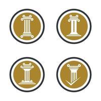 imágenes de pilar logo vector