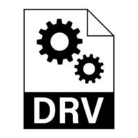 Modern flat design of DRV file icon for web vector