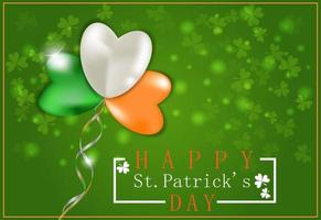 St. Patrick's Day banner. Inflatable balloons vector