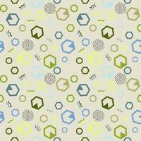 Seamless pattern in memphis style with simple geometric shapes vector