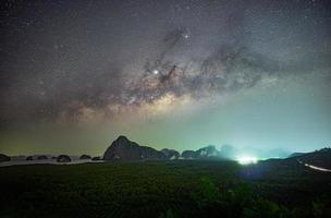 Milky Way over  Samed Nang Nee, Phang Nga Province, Thailand photo