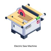Electric Saw Machine vector