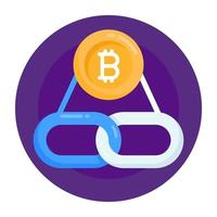 Bitcoin Link Chain vector
