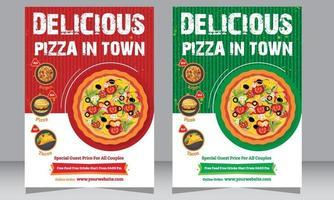 Restaurant Flyer, Pizza Shop flyer, Poster, Food Flyer vector