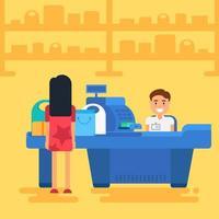 Shopping concept illustration vector