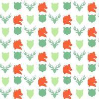 Wildlife seamless pattern vector