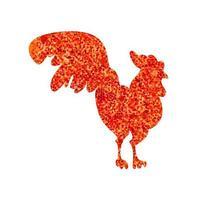 Gold Cock Banner vector