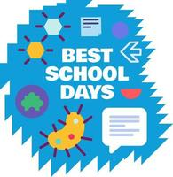 Best school days and study childhood time vector