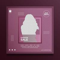 venta de moda de plantilla minimalista para publicación en redes sociales vector