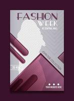 Simple and modern fashion week poster template vector