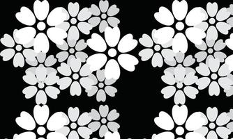 seamless pattern with flowers free vector