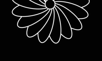 black and white feather background vector