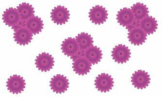 pink flower pattern design free vector