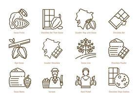 Ecuador cocoa origin line icon vector