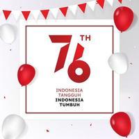 76th Republic of Indonesia's Anniversary vector