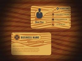 Vintage Business Card Design vector