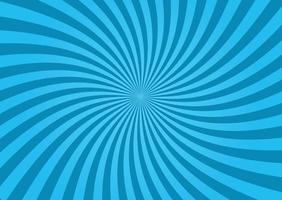 blue twisted sunburst background vector