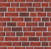 seamless wall texture. red bricks pattern vector