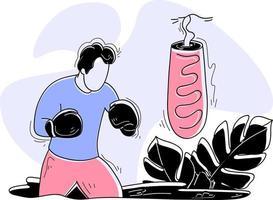 Boxing flat illustration concept Games Sport vector