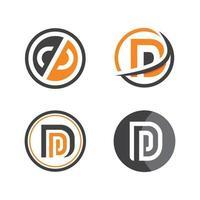 dp letter logo icon illustration vector