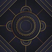 luxury geometric rounded design 01 vector