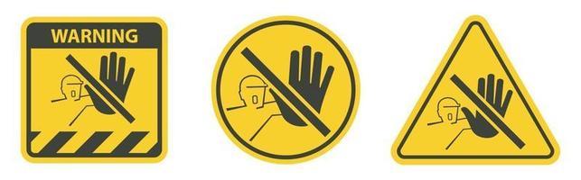 Do Not Touch,No Acces Sing vector