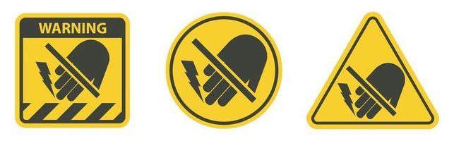 Do Not Touch Electrical Hazard Symbol vector