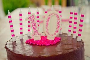 10th Birthday Cake decoration photo