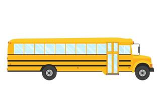 Vector illustration of school bus side  view isolated on the white