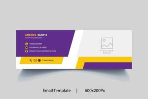 Professional geometric business and corporate email signature. vector