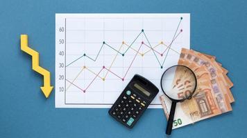 economy chart money. High quality beautiful photo concept