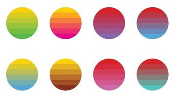 Colorful Circle Retro Vintage Sunset vector