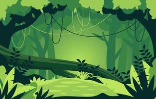 Forest Scenery With Tree vector