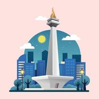 Monas National Monument of Indonesia vector