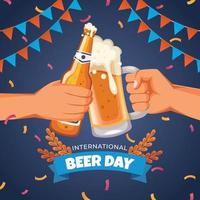 Celebration of A Beer Day vector