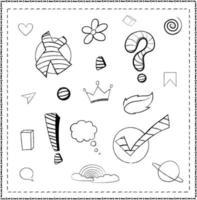 Line Doodle Symbols vector