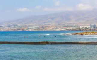 The Atlantic Ocean at Tenerife, on the Canary islands photo