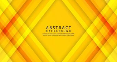 Abstract 3d geometric background with orange stripes decoration vector