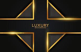 Luxury elegant Abstract black and shiny gold geometric background vector