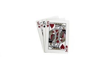 Playing cards background photo