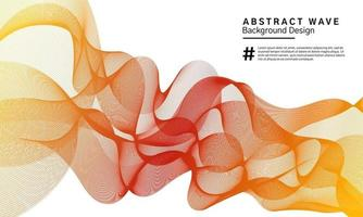 Abstract wavy lines background design vector