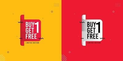 Buy 1 Get 1 Free sale banners template. vector
