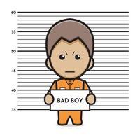Prisoner bad boy cartoon icon vector illustration