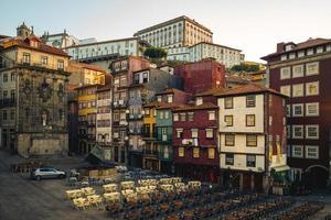 Douro riverside quarter, known as the Ribeira, in Porto, Portugal photo
