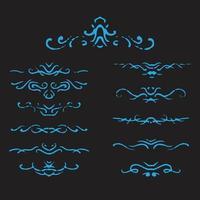Decorative ornaments design vector